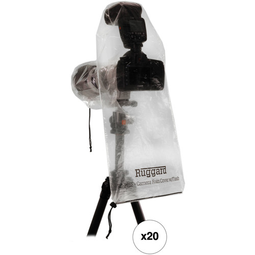 "Ruggard RC-P18F Rain Cover for DSLR with Lens up to 18"" and Flash B&H Kit (10 Packs of 2)"
