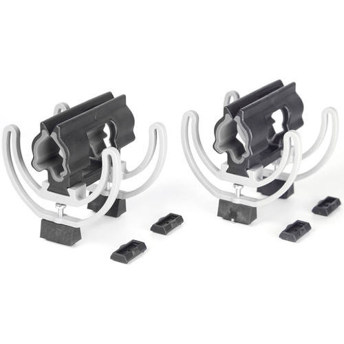 Rycote Duo-Lyre 72 (19/34) with Stereo Risers (Pair, Black/Gray)