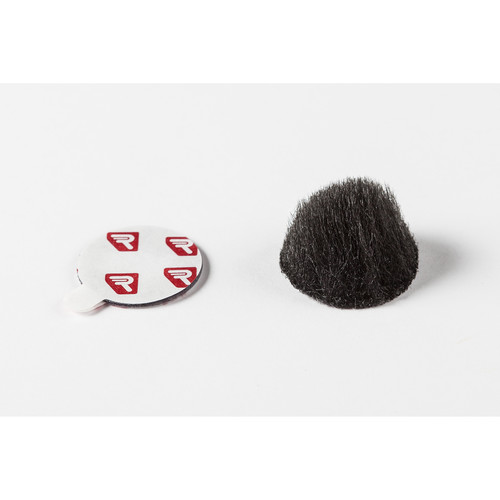 Rycote Overcovers Advanced Fur Disc Wind Covers for Lavalier Mics (5 Black, 25 Round Stickies)