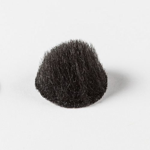 Rycote Overcovers Advanced, Fur Discs for Lavalier Microphones (100-Pack, Black)