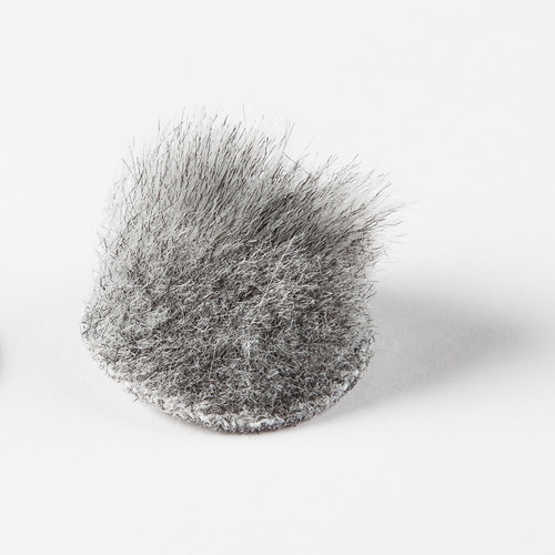 Rycote Overcovers Advanced, Fur Discs for Lavalier Microphones (100-Pack, Gray)