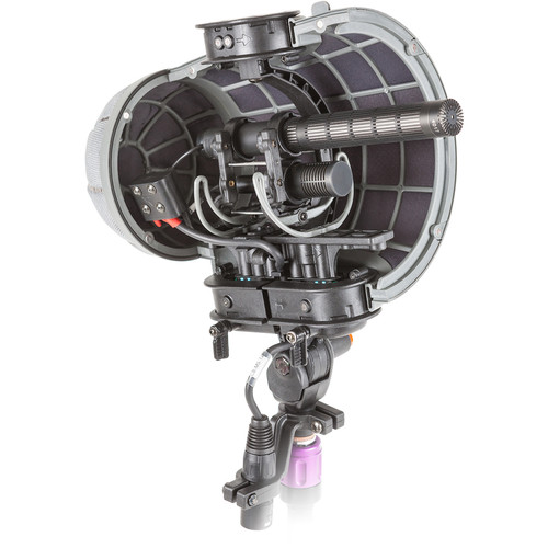 Rycote Stereo Cyclone MS Kit 14 Windshield System for DPA 4017C and Ambient Emesser