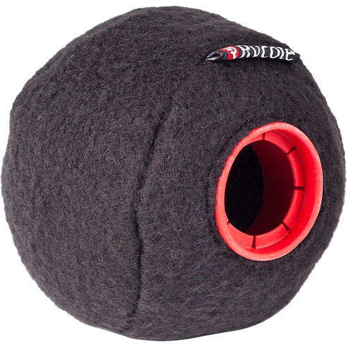 Rycote Baseball Felt-Covered Windscreen (Black, 24/25mm, Single)