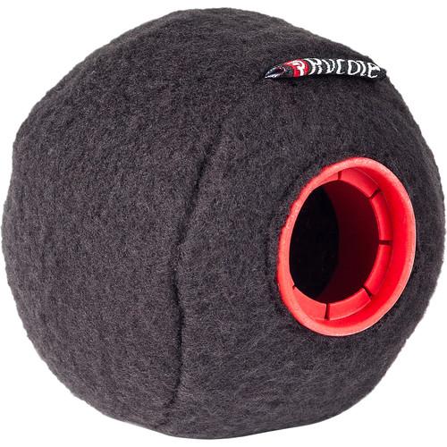 Rycote Baseball Felt-Covered Windscreen (Black, 24/25mm, 3-Pack)