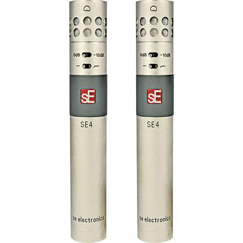 sE Electronics SE4 Small-Diaphragm Microphone with Interchangeable Capsule (Pair)