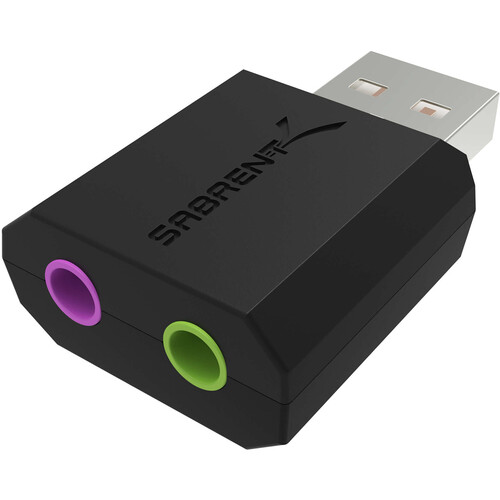 Sabrent AU-MMSA USB Stereo 3D Sound Adapter (Black)