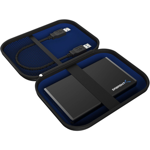 """Sabrent EVA Hard Carrying Case Pouch for External 2.5"""" Hard Drives"""