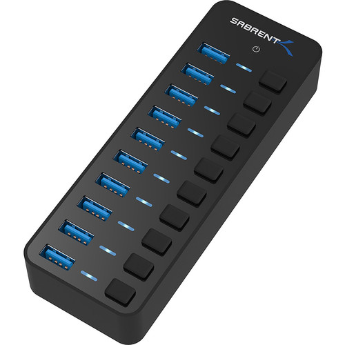Sabrent 10-Port USB 3.0 Hub with Individual Power Switches