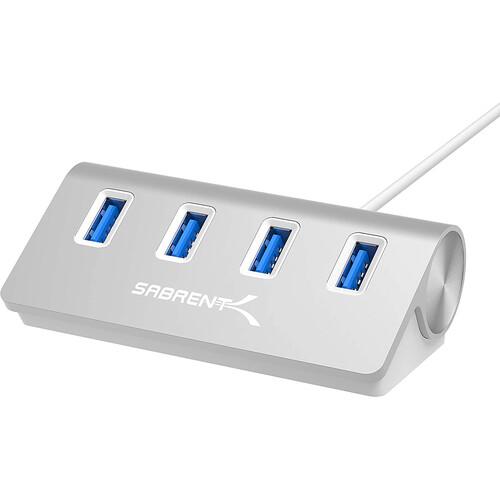 Sabrent USB 3.0 4-Port Aluminum Hub (Silver)