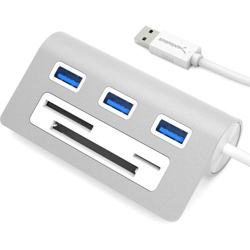 Sabrent USB 3.0 3-Port Hub and CF/SD/microSD/MMC/M2 Memory Card Reader