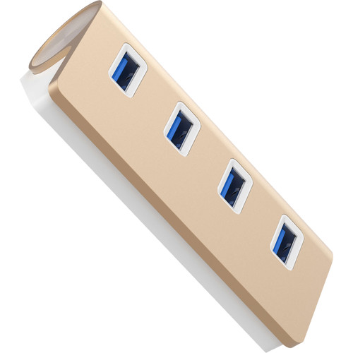 Sabrent USB  3.0 4-Port Mac Style Hub (Gold)