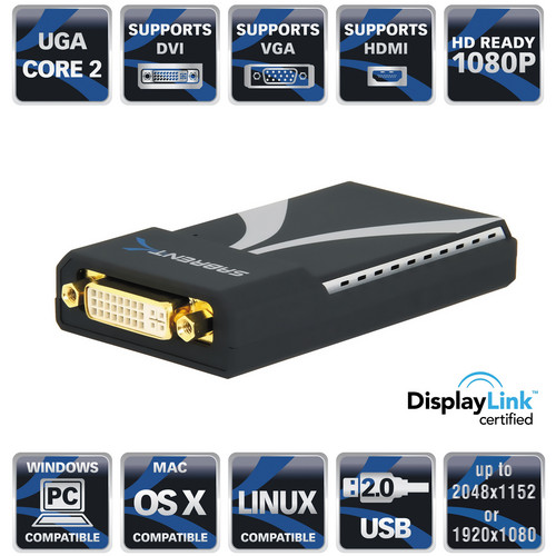 Sabrent Multi-Display USB 2.0 to DVI/VGA or HDMI Adapter
