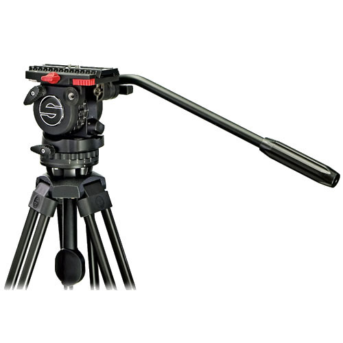 Sachtler 0273 FSB-2 Aluminum Tripod System - consists of: FSB-2 Fluid Head, 2-Stage Tripod, Mid-Level Spreader and Padded Case - Supports 4.4 lbs