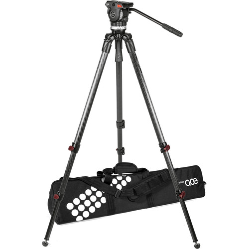 Sachtler Ace XL Fluid Head with Telescoping Tripod Legs (75mm Bowl)