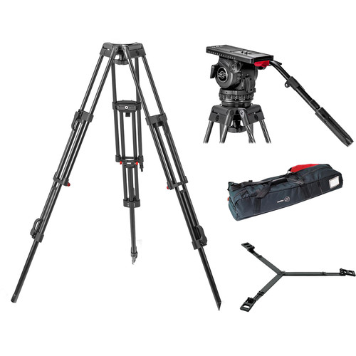 Sachtler Video 18 S2 Head System with ENG 2D Aluminum Tripod & Ground Spreader