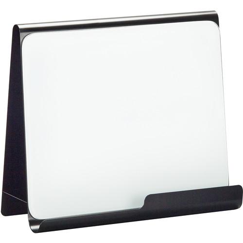 Safco Wave Desk Accessory Desktop Whiteboard Magnetic Document Stand (Black)