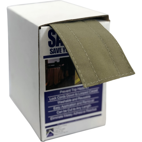 """Safcord Cord and Cable Protector for Carpet (3"""" x 30', Taupe)"""