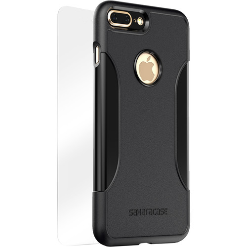 Sahara Case Classic Protective Kit for iPhone 7 Plus and 8 Plus (Black Scorpion)