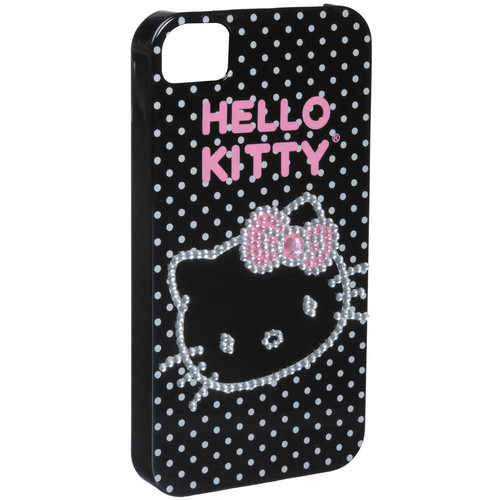 Sakar Hello Kitty Bling Case for iPhone 4S (Black with Polka Dots)