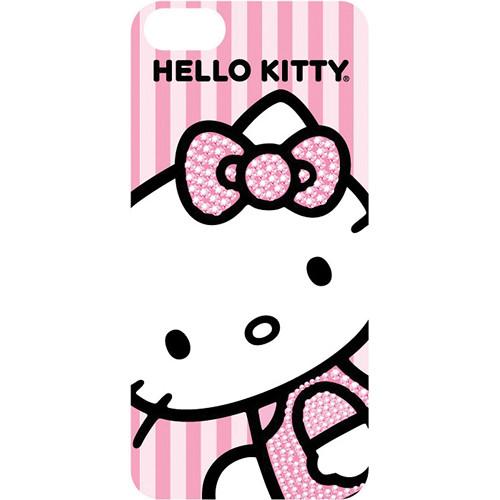 Sakar Hello Kitty Stripe Bling Bow Case for iPhone 5 (Pink)