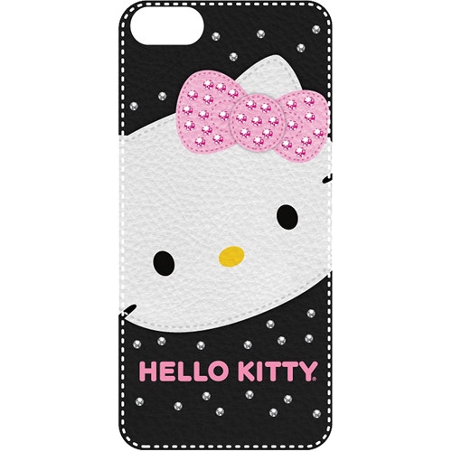 Sakar Hello Kitty Bling Leather Feel Case for iPhone 5 (Black)