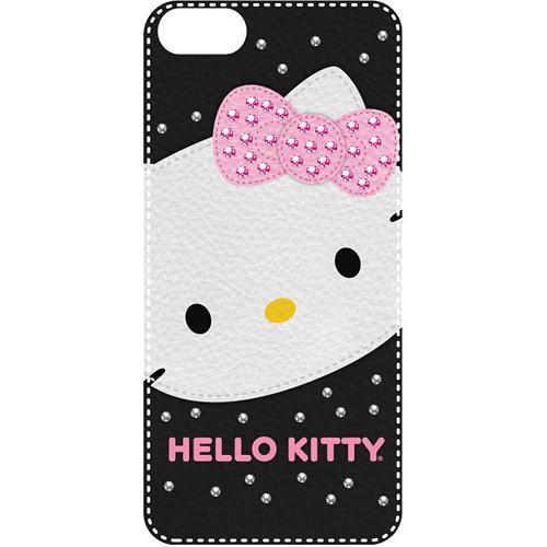 Sakar Hello Kitty Bling Leather Feel Case for iPhone 5 (Black)