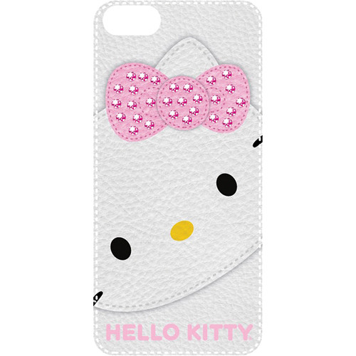 Sakar Hello Kitty Bling Leather Feel Case for iPhone 5 (White)