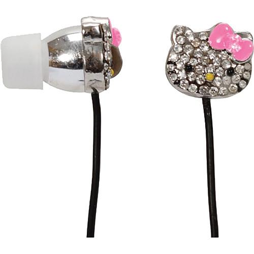 Sakar Hello Kitty HK Bling Metal Earbuds With Mic