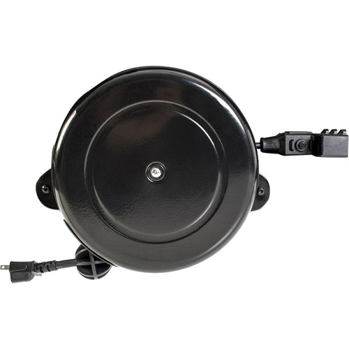 Salamander Designs Retractable Power Cable Reel with Three Outlets for Display Stands (30')