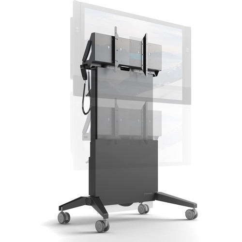 """Salamander Designs Large Electric Lift Mobile Display Stand for Up to 65"""" Displays"""