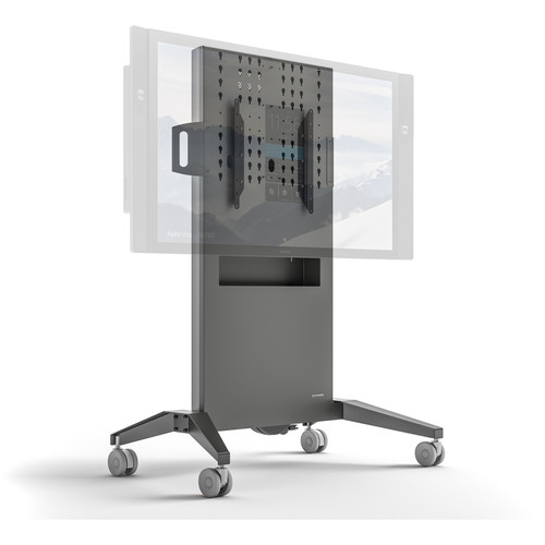 """Salamander Designs Large Fixed-Height Mobile Display Stand for Up to 65"""" Displays"""