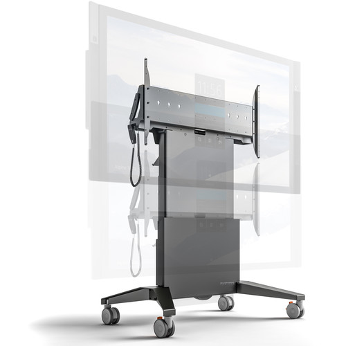 "Salamander Designs X-Large Electric Lift Mobile Display Stand for Up to 90"" Displays"