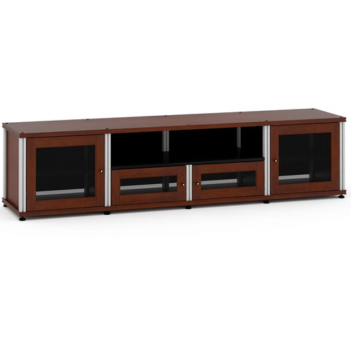 Salamander Design Synergy 425 Speaker Integrated Cabinet with Adjustable Shelf (Aluminum Post, Dark Cherry Finish)