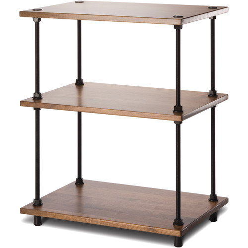 "Salamander Design Archetype System Modular Shelving Audio Stand (28"", Natural Walnut)"