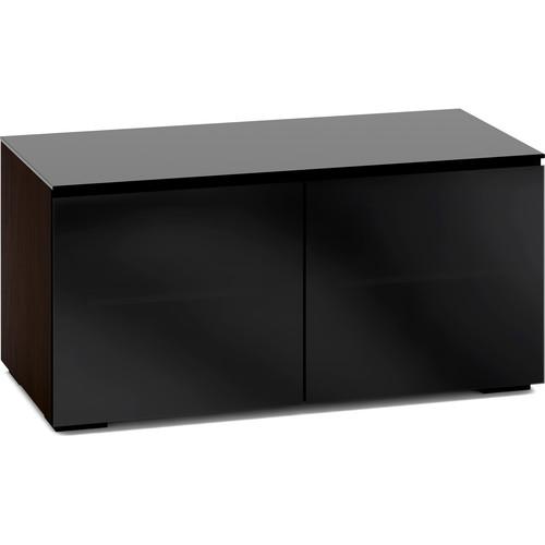 Salamander Designs Oslo 221 Chameleon 2-Door AV Cabinet with 2 Adjustable Shelves (Black Glass)