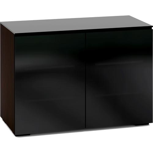 Salamander Design Oslo 323 Chameleon 2-Door AV Cabinet with 4 Adjustable Shelves (Black Glass)