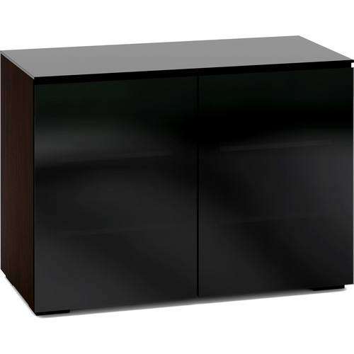 Salamander Designs Oslo 323 Chameleon 2-Door AV Cabinet with 4 Adjustable Shelves (Black Glass)