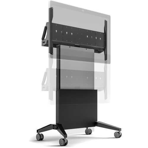 """Salamander Designs Mobile Stand, Electric Lift For Cisco Webex 55""""- Graphite and Gray- Export"""