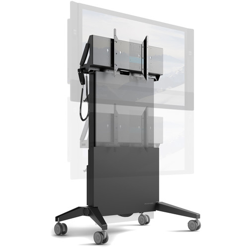 Salamander Designs Mobile Stand, Electric Lift- Graphite and Gray - Export
