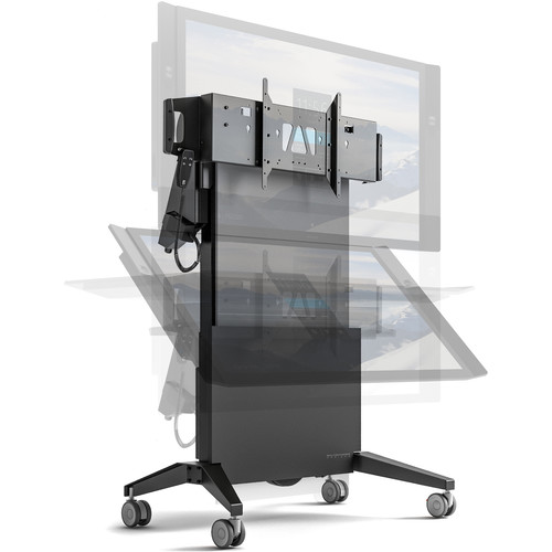 Salamander Designs Mobile Stand, Electric Lift and Tilt- Graphite and Gray - Export