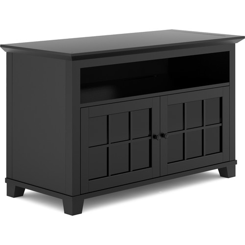 Salamander design audio video cabinet in matte black sdav1 for Matte black kitchen doors