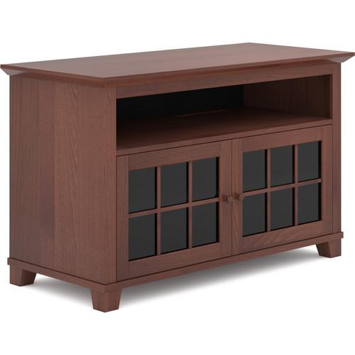 "SALAMANDER DESIGNS Audio/Video Cabinet in Warm Cherry with Glass Doors (50 x 31 x 22.5"")"