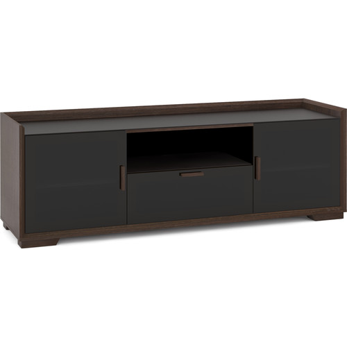 "SALAMANDER DESIGNS Audio/Video Cabinet in Wenge Espresso with Black Glass Doors (72 x 24 x 20"")"