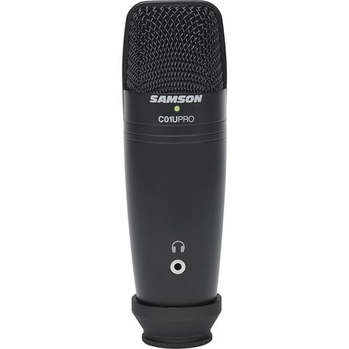 Samson C01U Pro USB Mic & Stand/Exclusive Black Kit