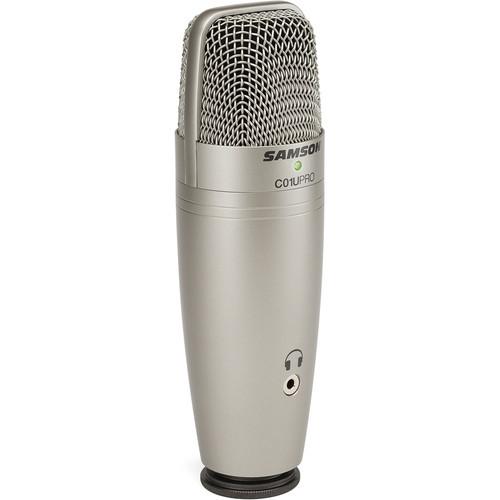 Samson C01U Pro USB Studio Condenser Microphone (Silver)