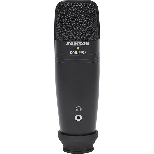 Samson C01U Pro-Black USB Studio Condenser Microphone (Exclusive Black)