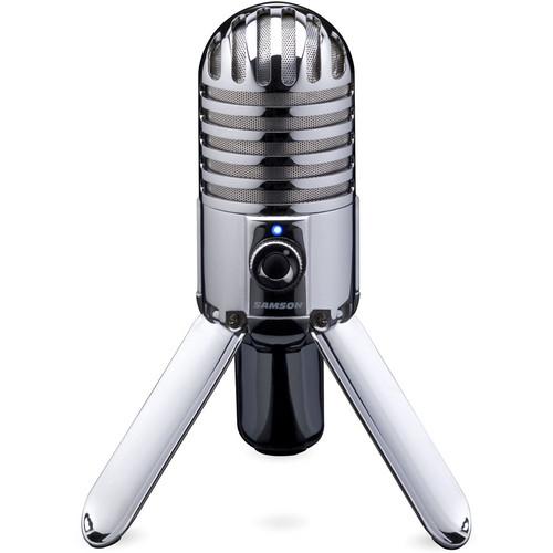 Samson Meteor Mic USB Condenser Microphone and Studio Headphones Kit