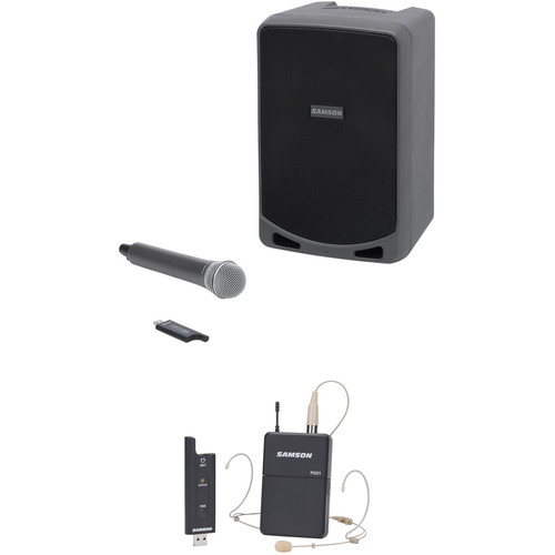 Samson Portable PA Kit with Wireless Headset and Handheld Microphone