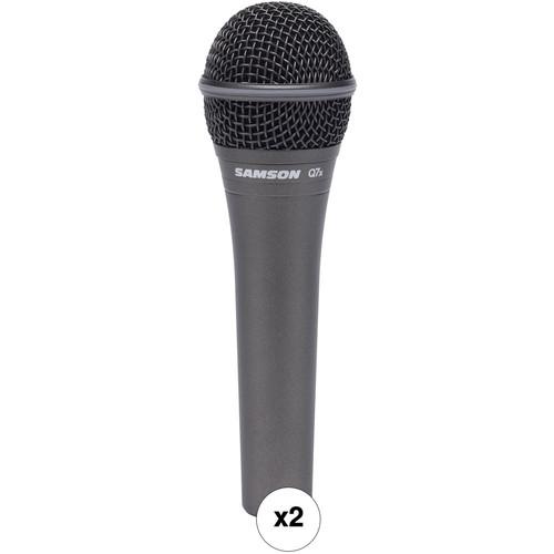Samson Q7x Dynamic Supercardioid Handheld Microphone Kit (Pair)