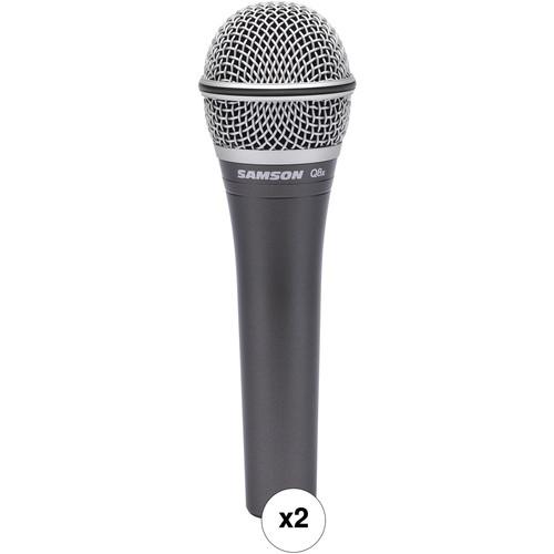 Samson Q8x Dynamic Supercardioid Handheld Microphone Kit (Pair)